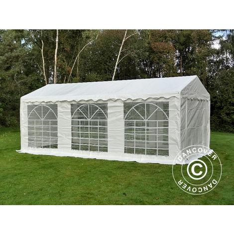 Marquee Party tent Pavilion PLUS 4x6 m PE, White