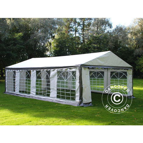 Marquee Party tent Pavilion PLUS 4x8 m PE, Grey/White
