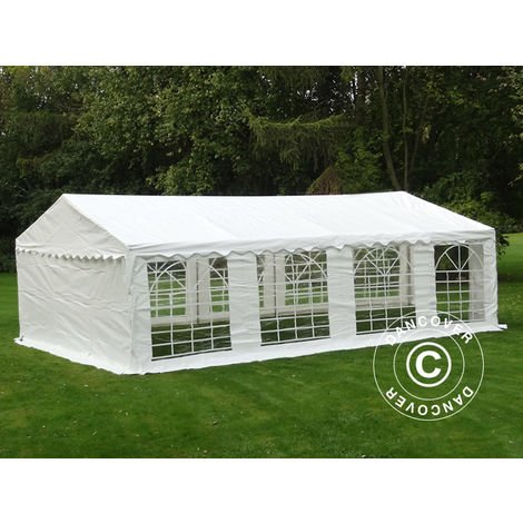 Marquee Party tent Pavilion PLUS 4x8 m PE, White