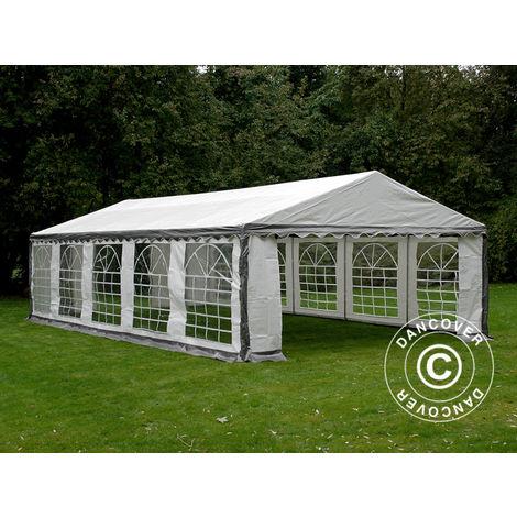 Marquee Party tent Pavilion PLUS 5x10 m PE, Grey/White