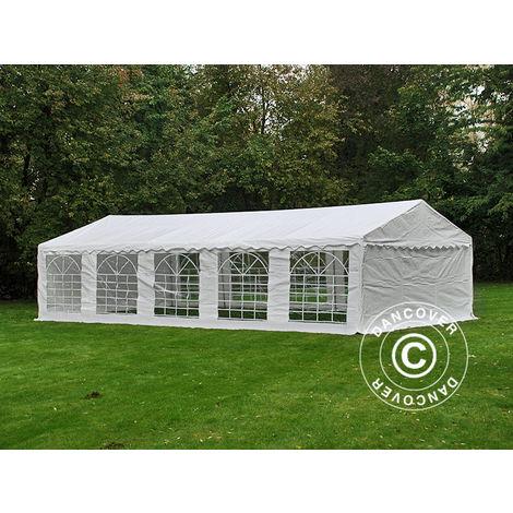 Marquee Party tent Pavilion PLUS 5x10 m PE, White