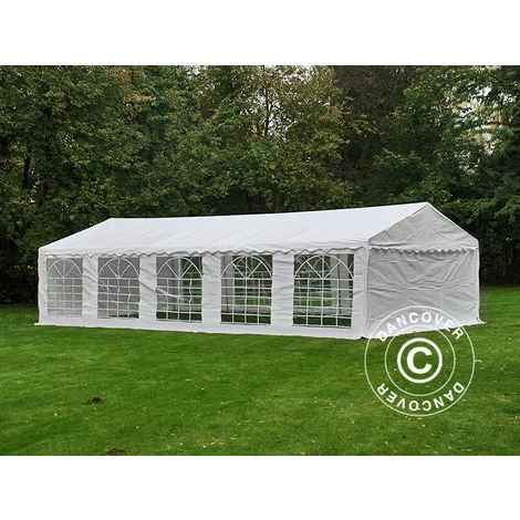 Marquee Party tent Pavilion PLUS 5x10 m PE, White + Ground bar