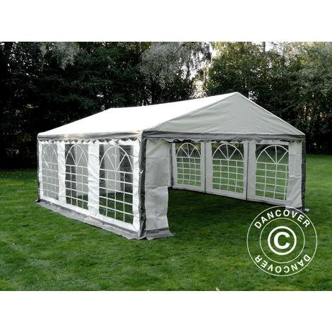Marquee Party tent Pavilion PLUS 5x6 m PE, Grey/White