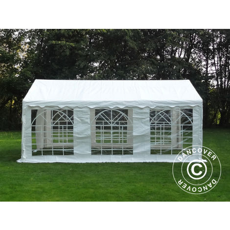 Marquee Party tent Pavilion PLUS 5x6 m PE, White