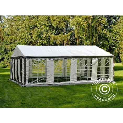 Marquee Party tent Pavilion PLUS 5x8 m PE, Grey/White
