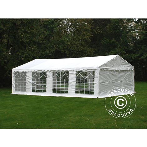 Marquee Party tent Pavilion PLUS 5x8 m PE, White