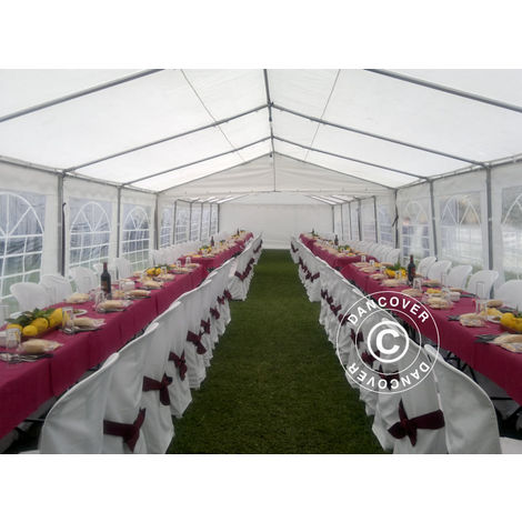 Marquee Party tent Pavilion PLUS 6x12 m PE, White