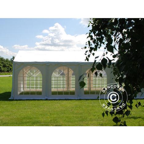 Marquee Party tent Pavilion SEMI PRO Plus 4x6 m PVC, White