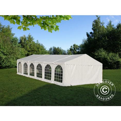 Marquee Party tent Pavilion, SEMI PRO Plus CombiTents® 6x12 m 4-in-1, White