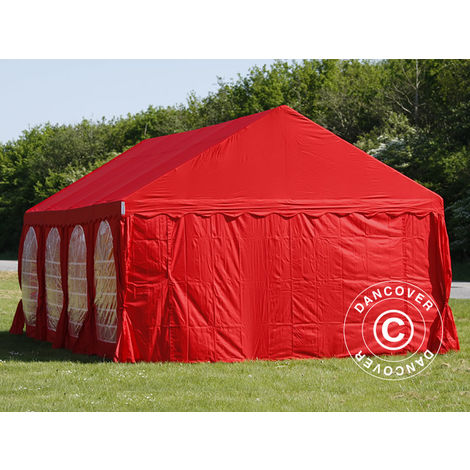 Marquee Party tent Pavilion UNICO 4x8 m, Red