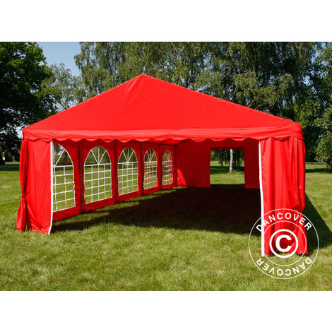Marquee Party tent Pavilion UNICO 5x10 m, Red