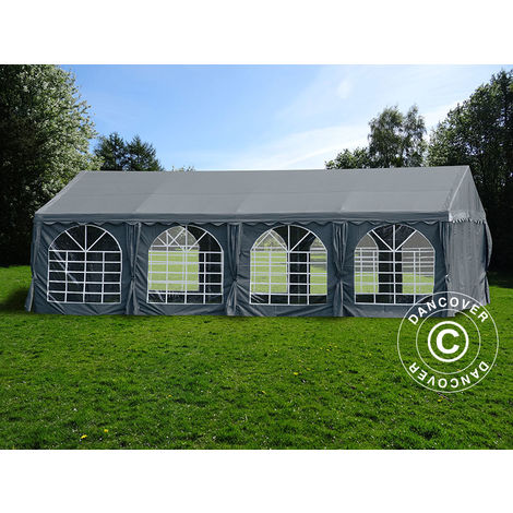 Marquee Party tent Pavilion UNICO 5x8 m, Dark Grey