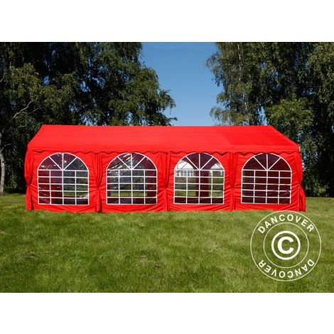 Marquee Party tent Pavilion UNICO 5x8 m, Red