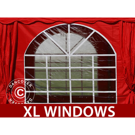 Marquee Party tent Pavilion UNICO 6x12 m, Red