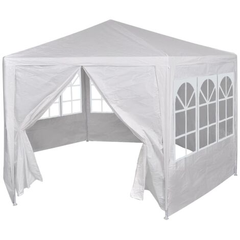 Marquee with 6 Side Walls White 2x2 m - White