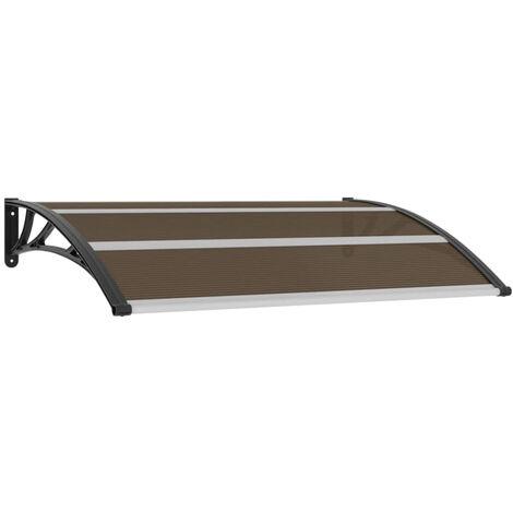 Marquesina para puerta de plastico negra 150x100 cm