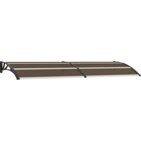 Marquesina para puerta PC negra 300x100 cm