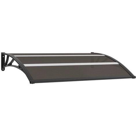 Marquesina para puerta PC negro 150x80 cm - Negro