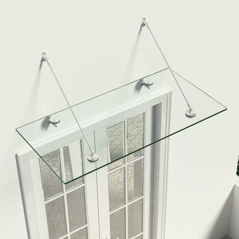 Marquesina para puerta vidrio de seguridad VSG 120x60 cm - Transparente