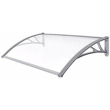 Marquesina para puertas ventanas Toldo cubierta de policarbonato de 3 mm transparente 125 x 75cm GVH128