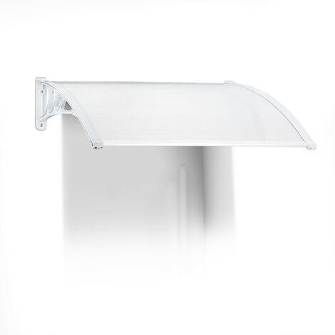 – Marquesina toldo techo para puertas protección, plástico, aluminio, 120 x 80 cm, tejado, transparente