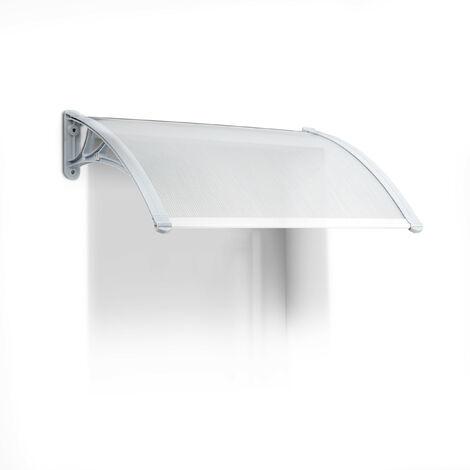 – Marquesina toldo techo para puertas protección, plástico, aluminio, 80 x 60 cm, tejado, transparente