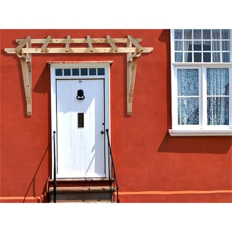 Marquesina Toldo Tejado de puerta Madera tejado de entrada tejadillo Puerta marquesina para puerta tejadillo de protección cobertizo