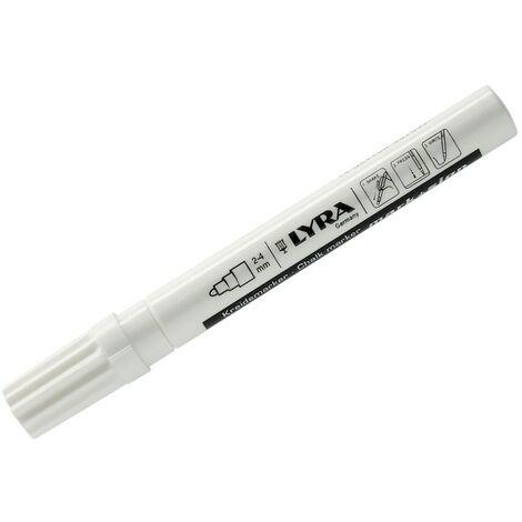 Marqueur craie liquide blanc pointe 2-4 mm-Lyra