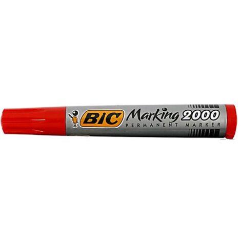 Marqueur permanent corps plastique rouge BIC