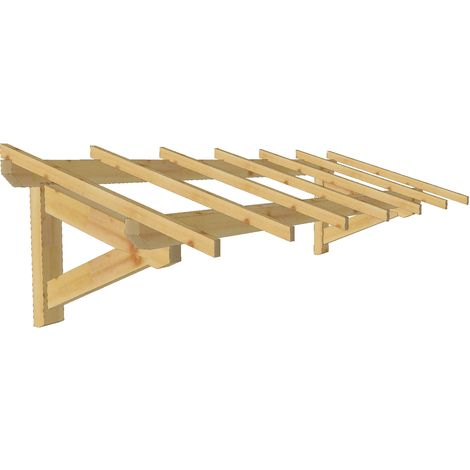 Marquise & Auvent en bois | Garage - Durable - 3 x 1.10 m