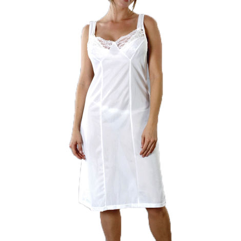 Marquise Ladies Anti Static Full Slip Underskirt With Lace Trimmed Neckline
