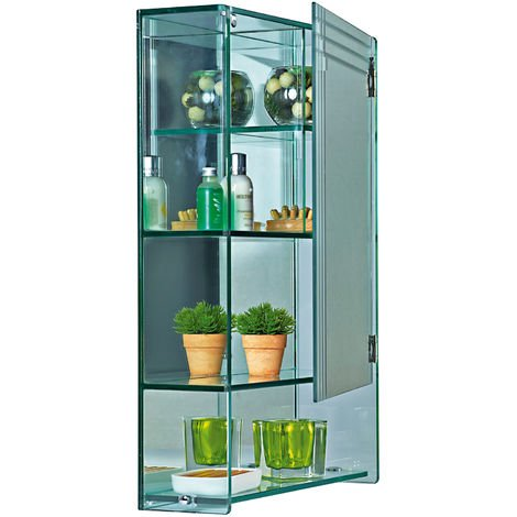 Marratimo Wall Mounted Glass Bathroom Cabinet