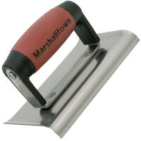 "Marshalltown M156SSD Curved Edger 6"" x 4"" Stainless Steel Durasoft Handle"