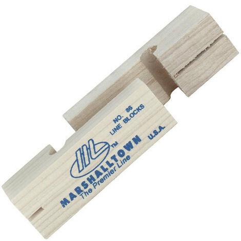 "Marshalltown M86 Wooden Line Blocks 1 Pair 3.5"" 95mm"