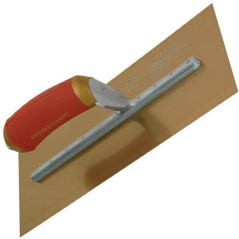 "Marshalltown MPB145GSD PermaShape Trowel Gold Stainless Steel 14"" x 5"" Durasoft Handle"