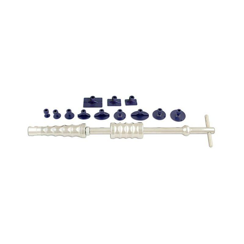 Bricomarteau - Marteau à inertie de débosselage sans peinture avec 9 pastilles à coller