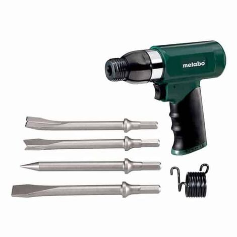 Marteau burineur à air comprimé METABO DMH 30 Set + 4 burins - 6.04115.50