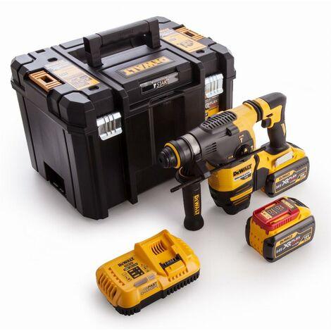 Marteau DEWALT SDS-Plus 3,5J (EPTA) - 54V XR FLEXVOLT - 2 Batteries 9.0 Ah, chargeur, mallette de transport - DCH333X2