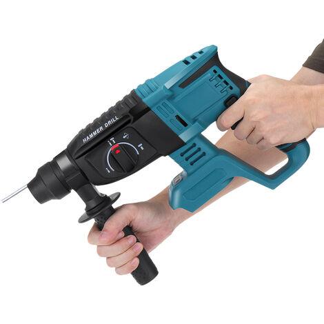 Marteau électrique sans brosse blanc pour batterie Makita 18V (bleu, sans Batterie)