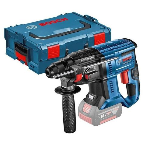 Marteau perforateur GBH 18 V-20 Solo Click & Go BOSCH - Sans chargeur ni batterie - Coffret L-Boxx - 0611911001