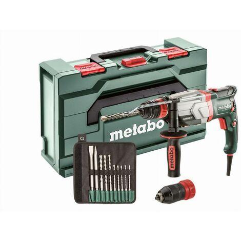 Marteau perforateur METABO SDS-Plus - UHEV 2860-2 QUICK SET - 1100 W - Coffret + jeu de forets 10 pièces - 600713510