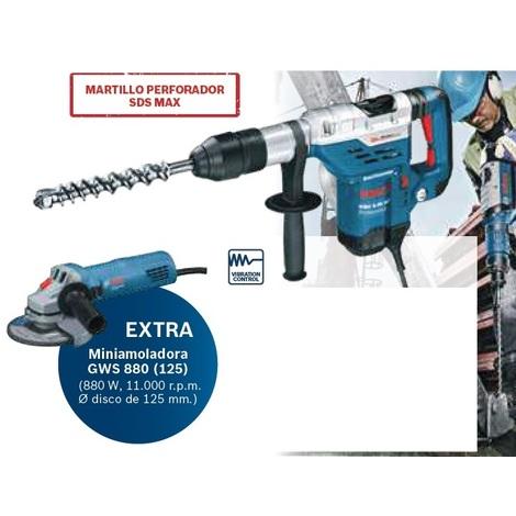 Martillo GBH 5-40 DCE Professional + miniamoladora GWS 880 (125) BOSCH 0615990K70