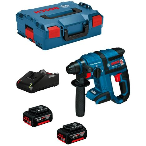 Martillo Perforador BOSCH GBH 18 V-EC (2 x 5,0 Ah + GAL18V-40 + L-Boxx 136)