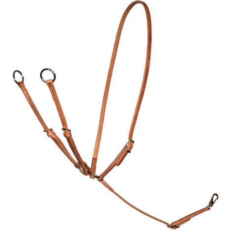 Martingale western Schutz Brothers collar de cuero con arnés de doble ajuste