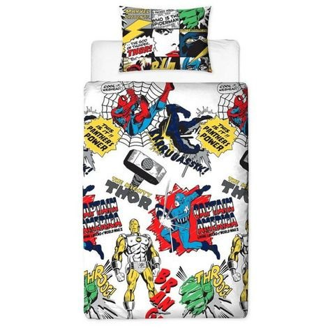 Marvel Comics Reversible Double Duvet Set