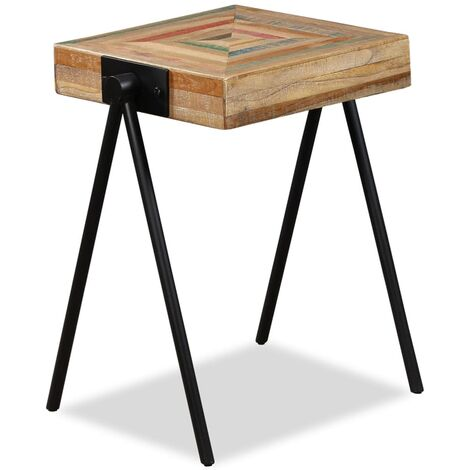 """main image of """"Maryville Solid Reclaimed Teak Side Table by Williston Forge - Brown"""""""