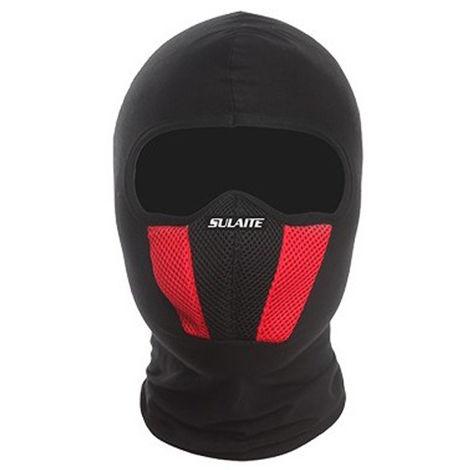 Mascara de algodon a prueba de viento mascara de cuello completo,rojo