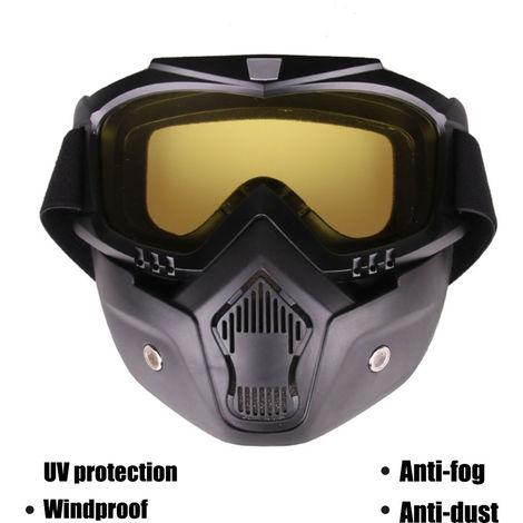 Mascara de gafas al aire libre, lente de proteccion UV, con mascara facial desmontable