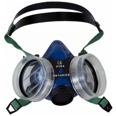 Máscara de Gases buconasal MASPER, Respirador Profesional Polivalente EN:140 de doble filtro