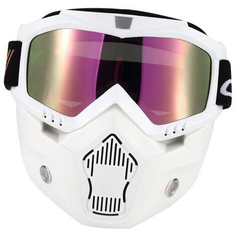 Mascara de motocicleta, gafas desmontables y filtro de boca